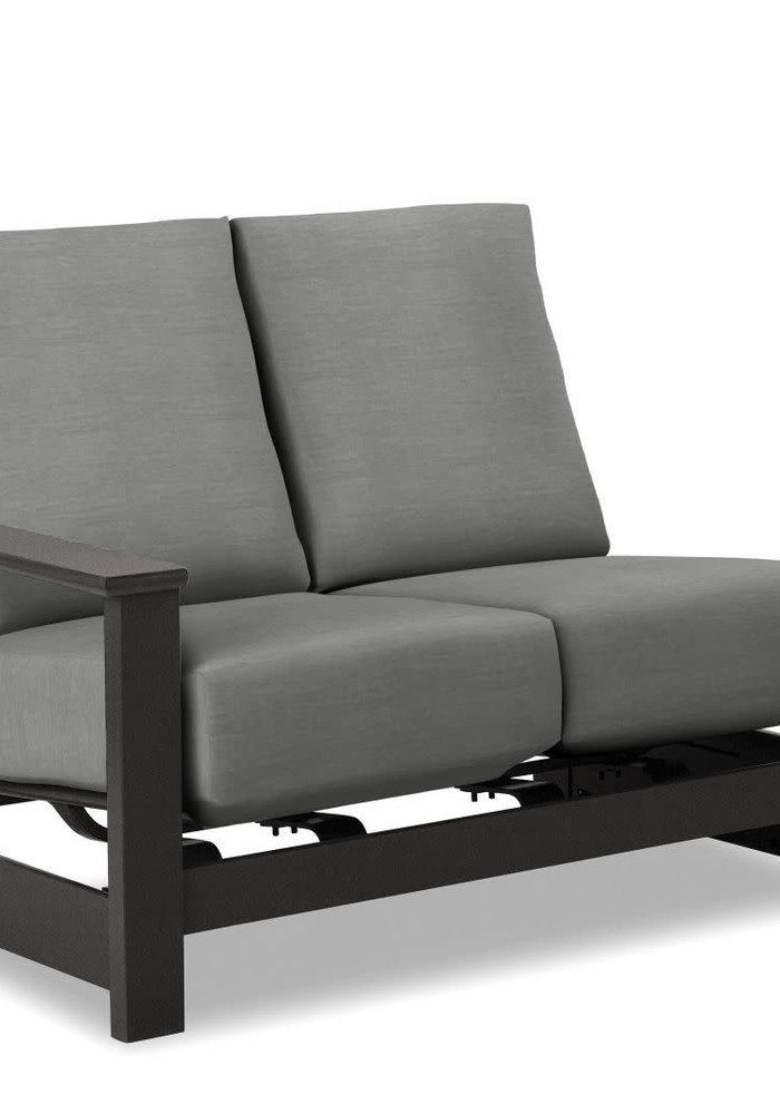 Leeward MGP Cushion Right Arm Two-Seat Hidden Motion Section Graphite and Greystone