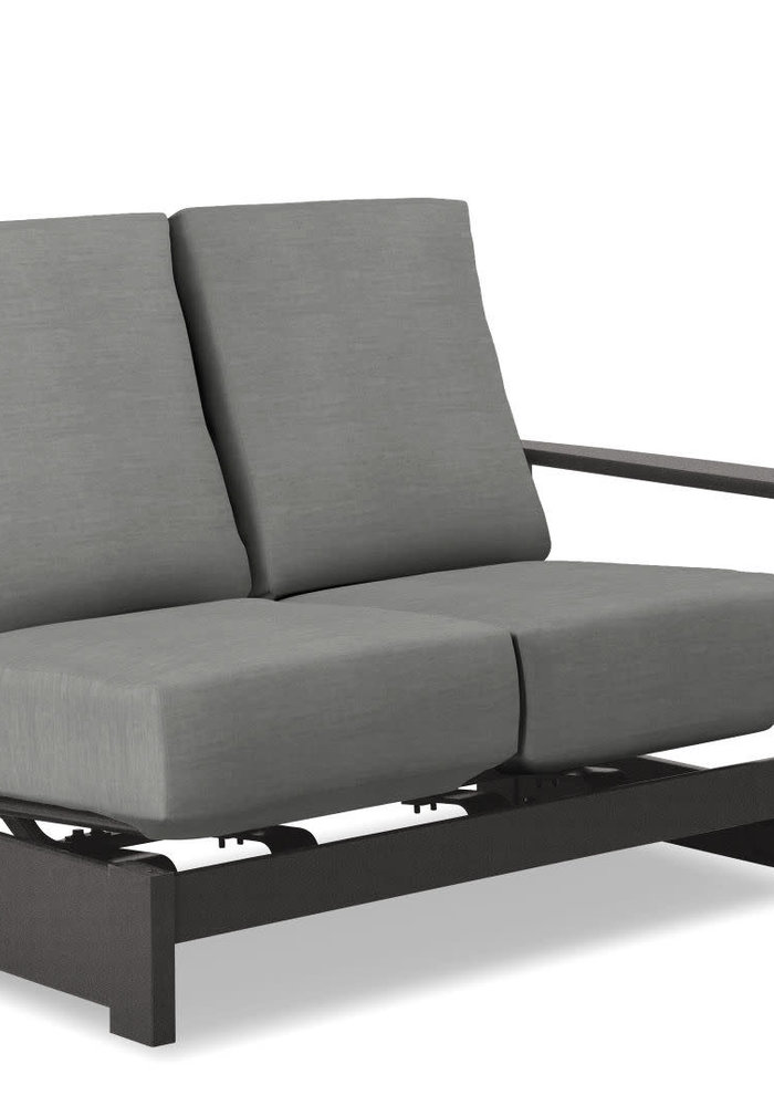 Leeward MGP Cushion Left Arm Two-Seat Hidden Motion Section Classic Graphite and Greystone