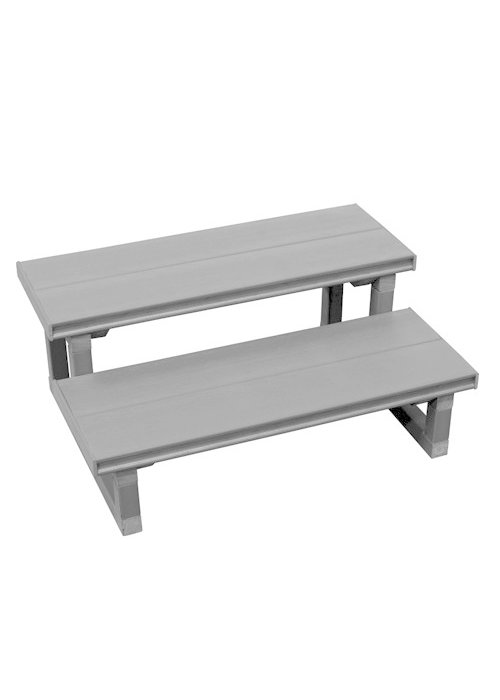 "Cal Spas 2 Tier 30"" Step Grey"