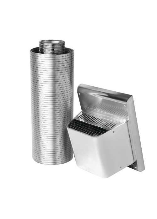 Napoleon Though Wall Vent Kit: includes 5' flex, one square wall terminal