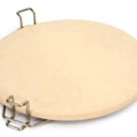 "Primo Kamado Heat Deflector Rack W/16"" Unglazed Pizza Stone"