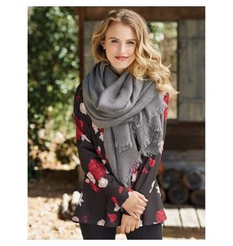 Mud Pie Mud Pie Luna Scarf Gray