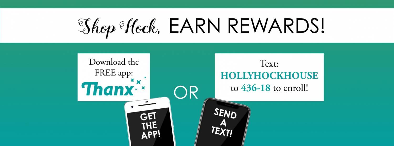 Shop Hock, EARN REWARDS