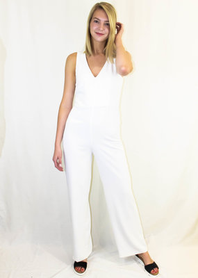 BB Dakota BB Dakota Just One Look White Jumpsuit