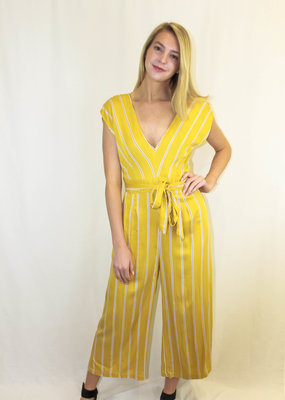 BB Dakota BB Dakota All The Right Moves Striped Jumpsuit