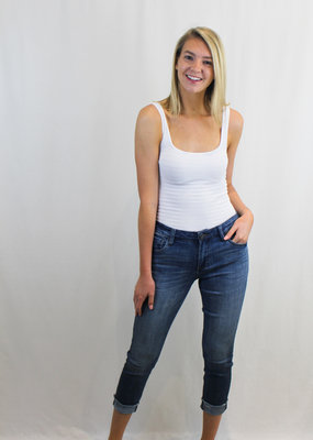 Kut From The Cloth Amy Crop Straight Leg Roll Up Pant