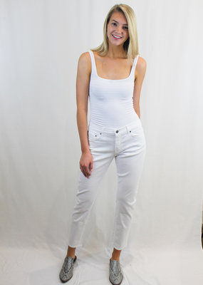 Principle Slim Boyfriend White Jean