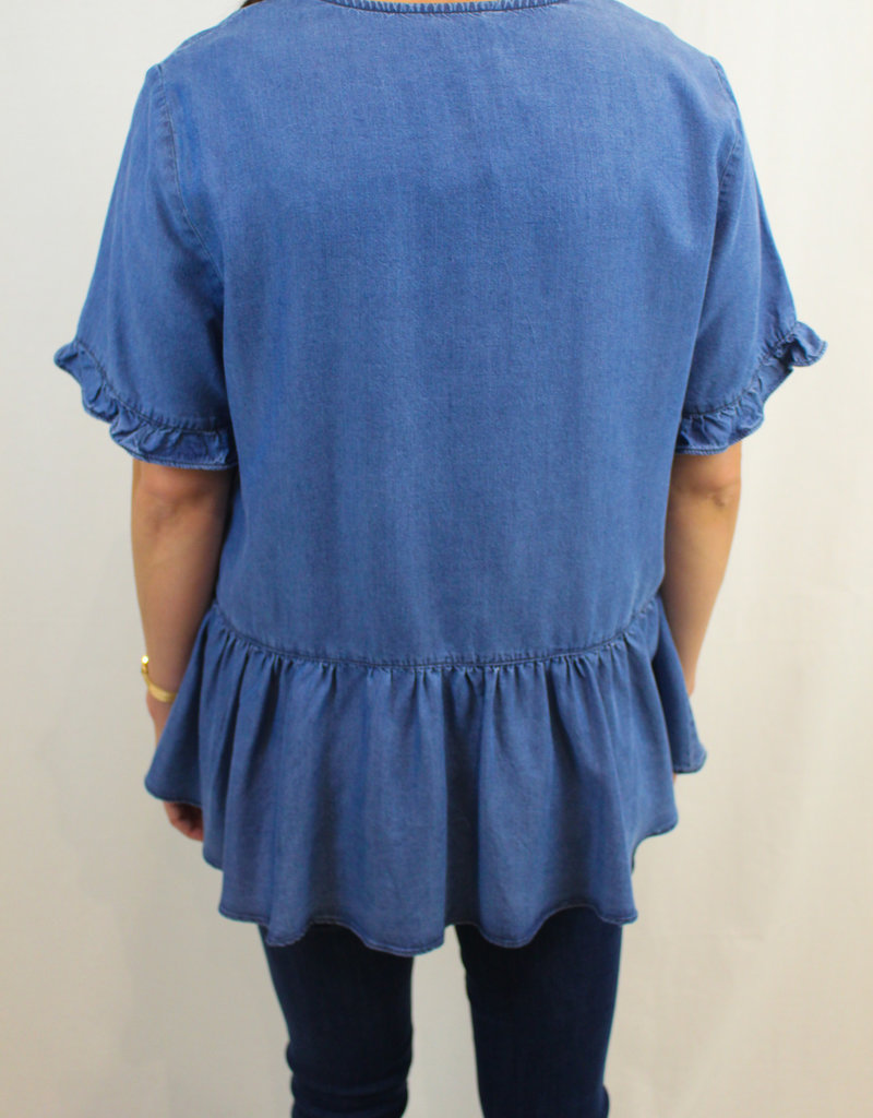 Velvet Heart Keika Peplum Top with Sleeves