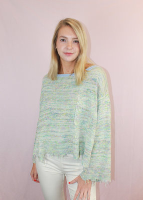 Free People Prism Oversized Knit Top