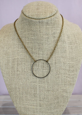 Ginu Ginu Brass Ring Necklace