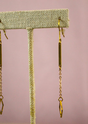 Ginu Ginu Chain with Square Earrings