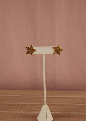Triple Play Gold Star Earrings