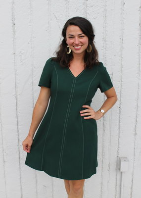 Gal Meets Glam Evergreen Swing Dress