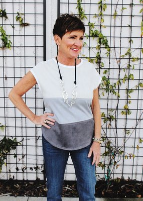 JOH Color Block Top