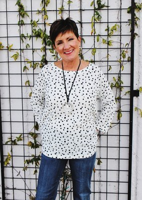 Nally & Millie Polka Dot Lightweight Top