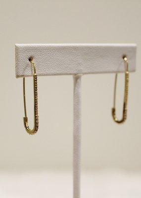 Alex Carol Jewelry Saftey Pin Glitz Earrings