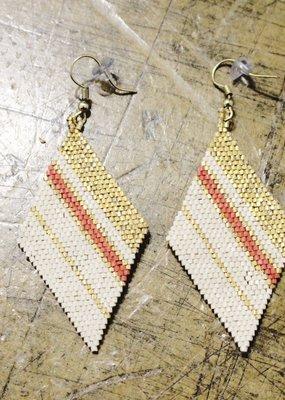 INK + ALLOY Stripe Bead Earrings