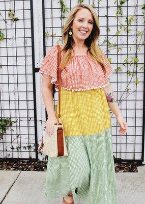 THML Color Block Maxi Dress