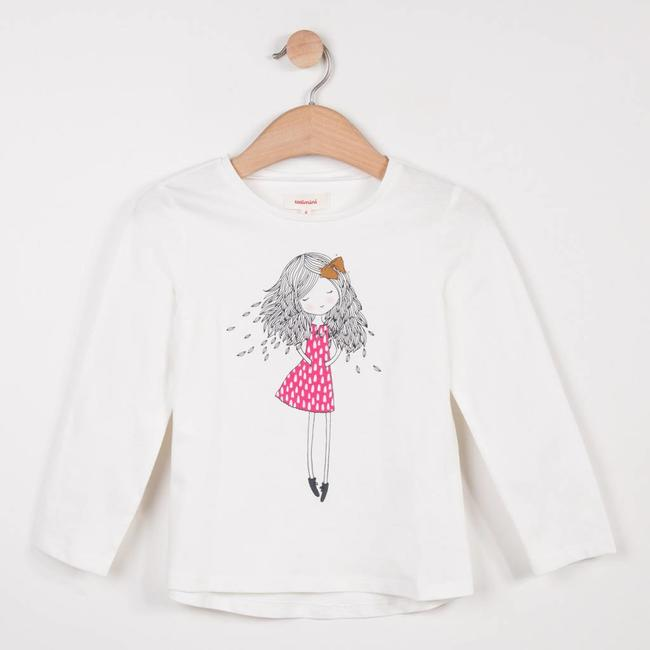 SLUBBED T-SHIRT WITH FASHION SKETCH PATTERN
