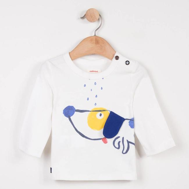 SNOW WHITE T-SHIRT WITH FUN PATTERN