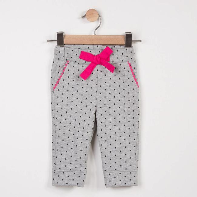 MARL FLEECE PANTS WITH SPOT PRINT