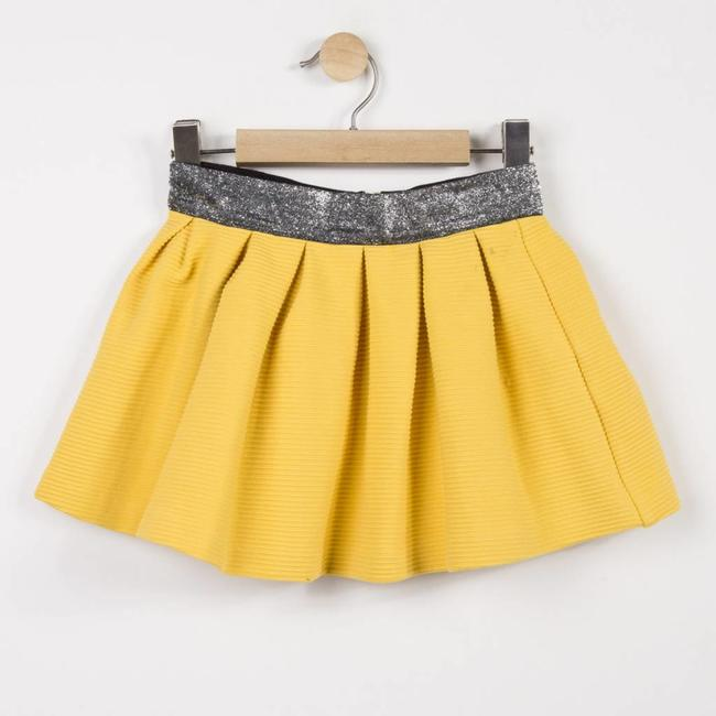 TEXTURED TUBULAR KNIT SKIRT WITH GLITTER BELT