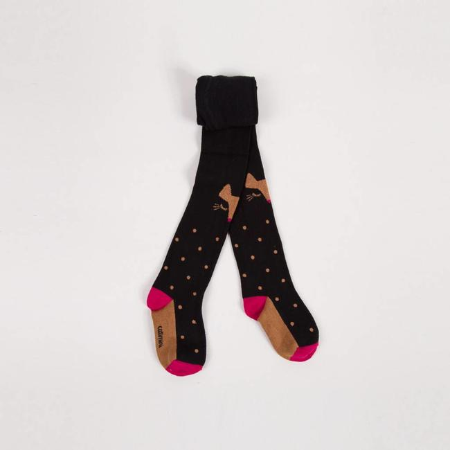 TIGHTS WITH METALLIC POLKA DOTS FOR GIRLS