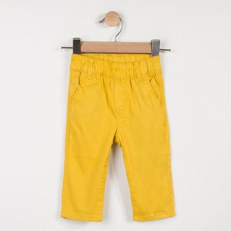 YELLOW BELTED TWILL JEANS