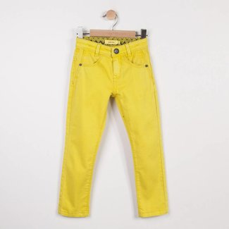 YELLOW COLOURED SLIM DENIM PANTS