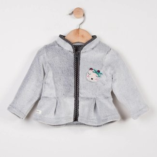 ZIPPED POLAR FLEECE CARDIGAN