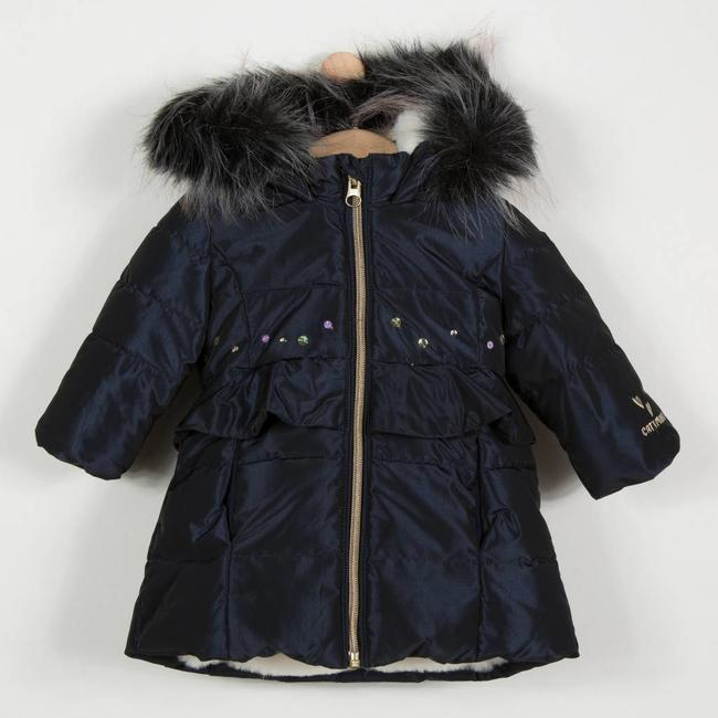 COATED PARKA WITH FUR HOOD