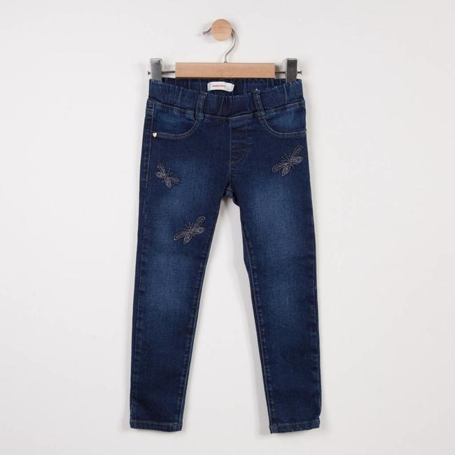 EMBROIDERED AND BEADED DENIM TREGGINGS