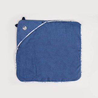 FJORD BLUE TERRY BATH TOWEL
