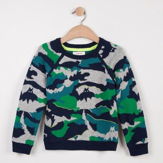 JACQUARD KNIT SWEATER NEO CAMOUFLAGE