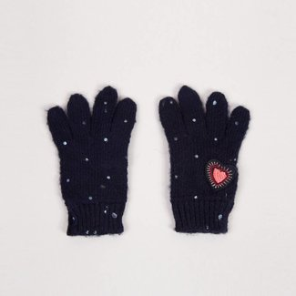 KNITTED MOHAIR GLOVES WITH SHINY SPOTS