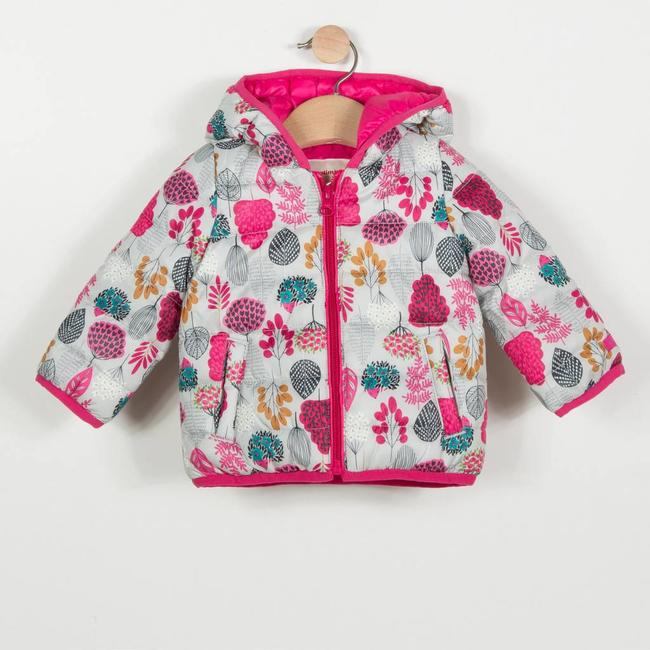LIGHT PUFFA JACKET WITH FLORAL PRINT
