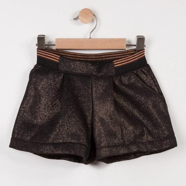 METALLIC KNIT SHORTS