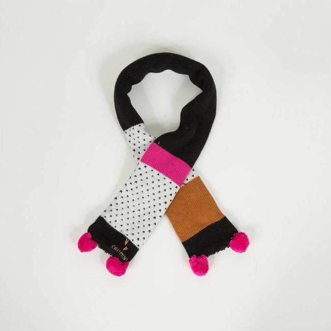 MULTI-COLOURED KNIT SCARF WITH JACQUARD PATTERNS