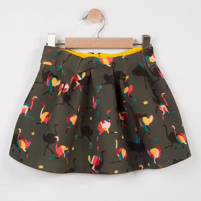 OSTRICH PRINTED INTERLOCK SKIRT