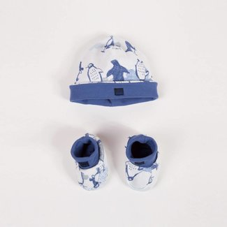 POLAR PRINTED HAT + SLIPPERS