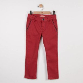 RED TWILL CHINO PANTS