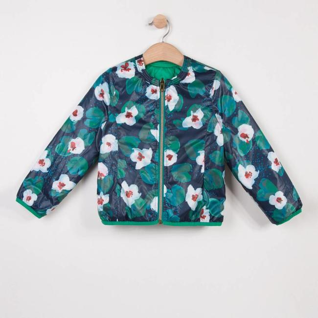 REVERSIBLE LIGHT PUFFA JACKET WITH FLOWER PRINT