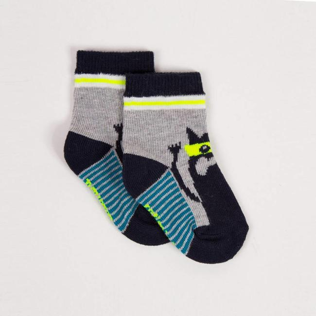 SOCKS WITH MONSTER PATTERN