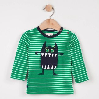 STRIPED T-SHIRT WITH FUN MONSTER PATTERN