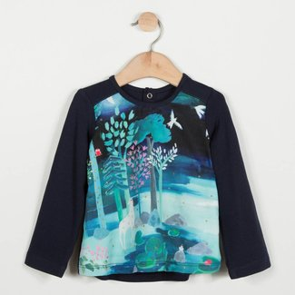 T-SHIRT IN TWO MATERIALS WITH UNICORN SUBLIMATION PRINT
