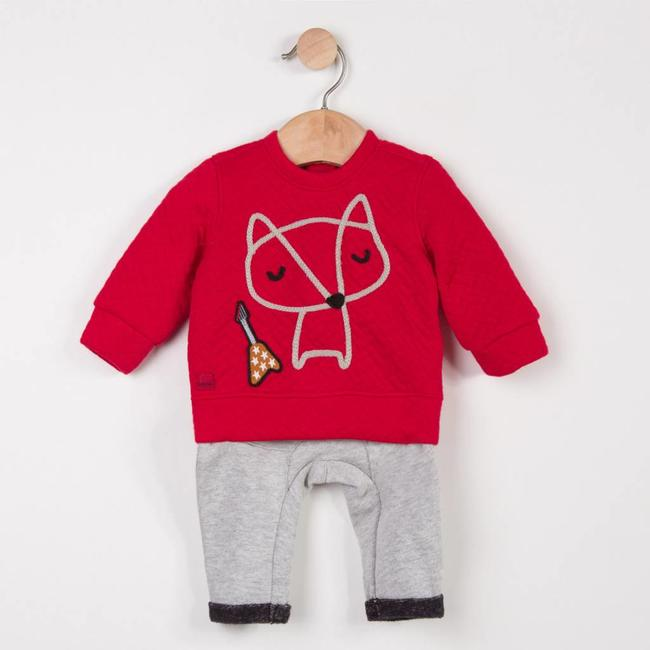 TUBULAR KNIT SWEATER + FLEECE PANTS