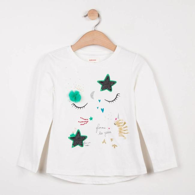 WHITE T-SHIRT WITH MAXI FAIRYTALE IMAGE