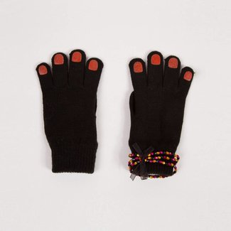 KNITTED GLOVES WITH GLITTER PATCHES