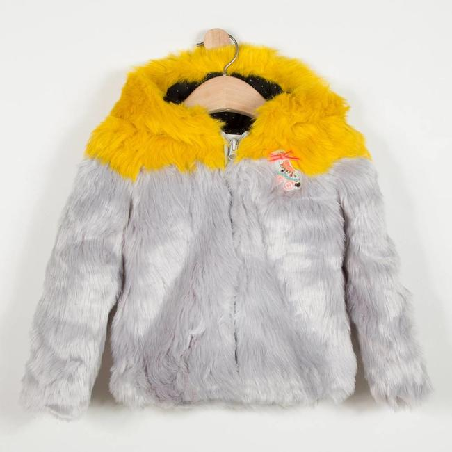CATIMINI TWO-TONE FAUX FUR COAT