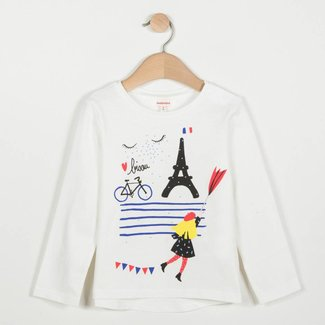 OFF-WHITE T-SHIRT WITH RAIN PATTERN